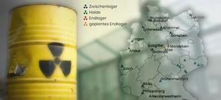 Wo der Atommüll in Deutschland liegt