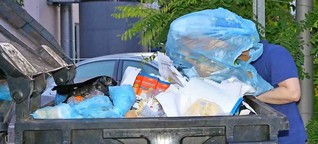 Containern, um Lebensmittel zu retten: Im Abfall abgetaucht