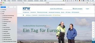 """""""Ein Tag für Europa"""" für kfw.de – das Online-Portal der KfW Bankengruppe"""