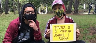Jugend protestiert gegen Polizeigewalt in Kolumbien