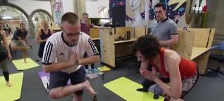 WDR Lokalzeit: Bier-Yoga - neue Trendsportart