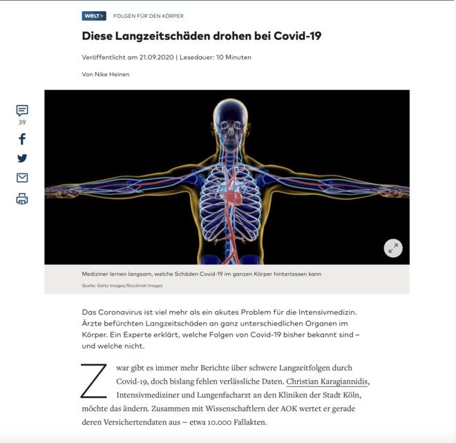 COVID: Infektion mit Folgen