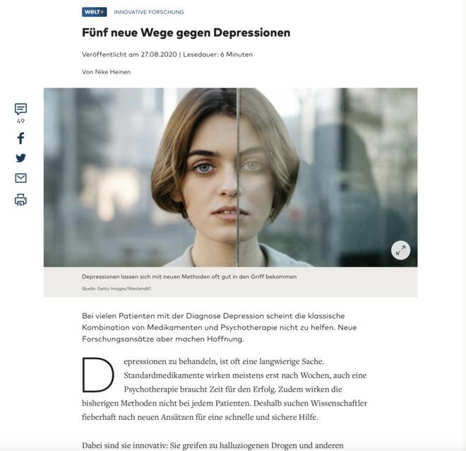 Was noch bei Depressionen hilft