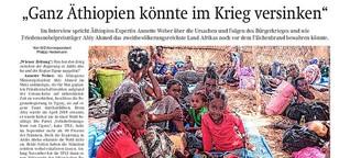 Ganz Äthiopien könnte im Krieg versinken