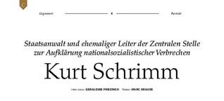 Titelstory über den Nazijäger Kurt Schrimm