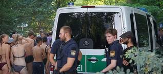 Polizei im Englischen Garten: Zwischen Eisbach und Eskalation