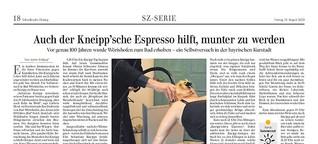 Auch der Kneip´sche Espresso hilft, munter zu werden