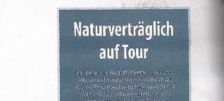 Naturverträglich auf Tour