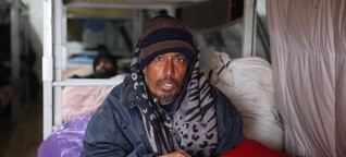 Flüchtlingsleid in Lipa - Erste warme Mahlzeit nach 18 Tagen