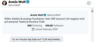 """""""Ich habe keine Erbpacht auf diesen Job.""""- Armin Wolf über Komfortzonen, Twitter und fehlende Diversität in den Redaktionen."""