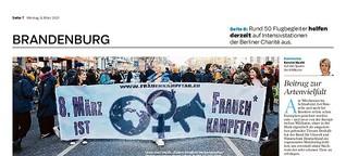Sollte der Frauentag auch in Brandenburg ein Feiertag sein?