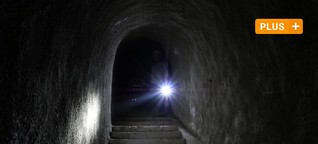 Unterwegs im Bunker unter dem Wittelsbacher Park