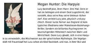 """Rezension von Megan Hunters Roman """"Die Harpyie"""""""