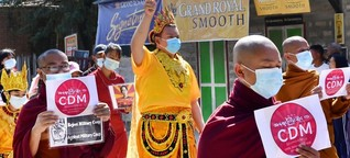 Religion als Opposition in Myanmar - Proteste mit Almosenschalen