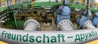 Wie man das Druschba-Desaster am Ende der Pipeline wahrnimmt
