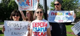 RUSSISCHE UMWELTAKTIVISTIN UND DIE KURISCHE NEHRUNG