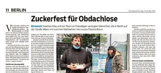 Zuckerfest für obdachlose Menschen in Berlin