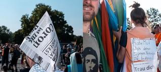 """Teilnehmer der """"Hygiene""""-Demos: Mit Zollstock und Grundgesetz"""