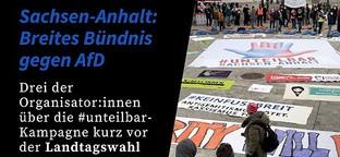 Landtagswahl: Bündis gegen AfD in Sachsen-Anhalt