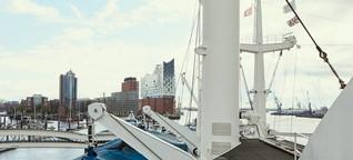 Am Hamburger Hafen: Wie der Mensch verschwindet