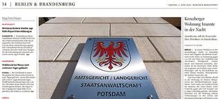 """Sachverständige im Brandprozess: """"Anzünden hatte Ventil-Funktion"""""""
