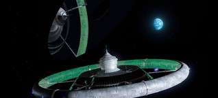Rotierende Raumstationen: Blue Origin will künstliche Schwerkraft herstellen | MDR.DE