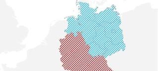 Rot-Weiß vs. Blau-Weiß: Warum Fußball-Deutschland zweigeteilt ist