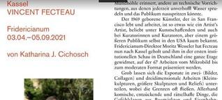 Flitterabend. Vincent Fecteau im Fridericianum Kassel