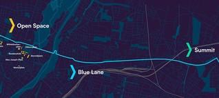 Das blaue Band durch München