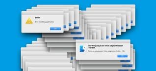 IT-Support: Haben Sie versucht, einfach mal neu zu starten?